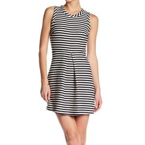 Madewell Black White Afternoon Striped Dress